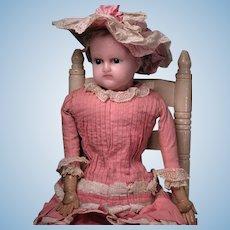 "22 1/2"" English Wax Child Sleep Eyes Original Clothes"