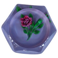 St. Louis France Paperweight 1978 Rose Original Box Certificate 268/350 Harrods - Red Tag Sale Item