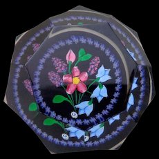 1998 Whitefriars Caithness Glass Rosette Fleming Hyacinth Bouquet Paperweight in Box #20 - Red Tag Sale Item