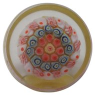 Strathearn Glass Paperweight PP9 Millefiori Miniature Top & Side Facet