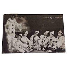 Carrick's Popular Pierrots RPPC Mailed 1904