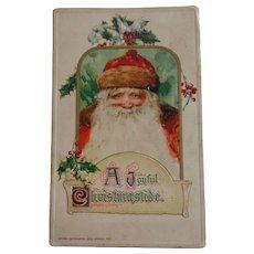 John Winsch Christmas Postcard Santa