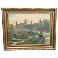 Willis Pryce Oil Painting Anne Hathaway's Cottage UK Artist