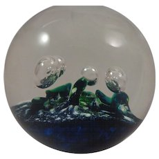 Selkirk Glass Paperweight Aquamarine 1981 110/500
