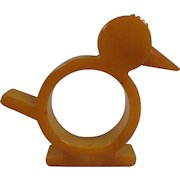 Butterscotch Bakelite Chick Napkin Ring Holder Free Shipping to the USA