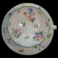 Mintons England Cup Saucer Floral Bouquets Green Trim