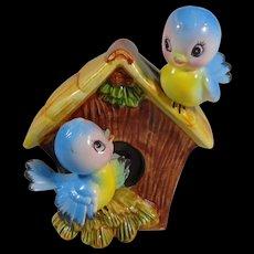 Norcrest Japan Bluebirds Money Bank