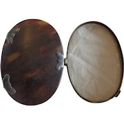 Antique Faux Tortoise Shell Folding Magnifying Glass