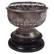 Mappin & Webb Sterling Rose Bowl on Plinth 1909 London Sheffield