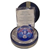 Whitefriars Millefiori Paperweight Queen Silver 25th Anniversary 1953-1978