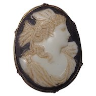 Glass Cameo Pysche Made in Czechoslovakia 1920s
