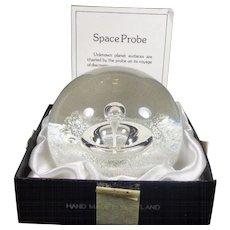Selkirk Art Glass Paperweight Scotland Space Probe #215/500 1980