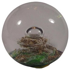 Selkirk Art Glass Paperweight Scotland Typhoon 1983 #48/500