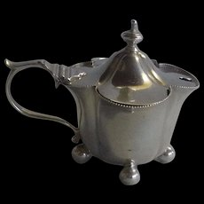 Sterling JW Benson Ltd Mustard Pot 1915