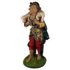 Fontanini Large Nativity Figure Shepherd Boy with Lamb Paper Mache Italy