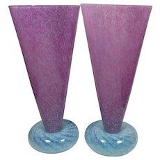 R. Guy Corrie Union Glass 2 x Donut Glasses Vases