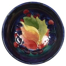 Signed Moorcroft Bowl William Leaf and Berry