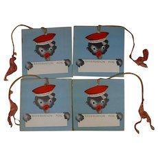 4 x Black Americana Bridge Tally Cards Bellhop Southland Gibson Free Shipping to Canada & USA