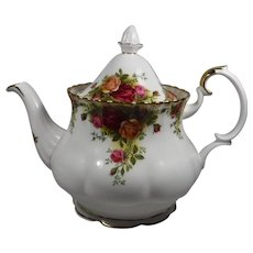 Royal Albert Old Country Roses Teapot 6 cups England