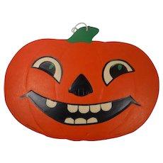 Embossed Pumpkin Face Beistle Luhrs 1940s