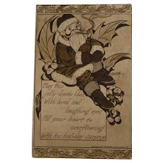 Antique Christmas Postcard Santa H. Bonte 1912