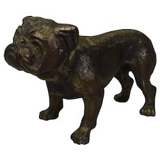 Bronze Brass Bulldog Figure