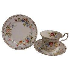 "Royal Albert Jubilee Rose Trio Cup Saucer 6 1/4"" Plate"