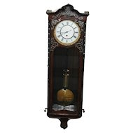 Antique Austrian Vienna Regulator Wall Clock, One Weight