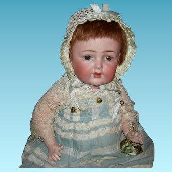 "JINGLE BELLS BABY - K*R Simon & Halbig 128 - Cute Little 10"" Size - Sleep Eyes & Cute Clothes!!"