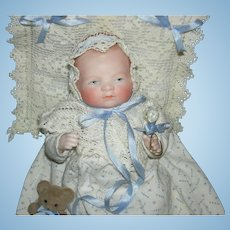 "ADORABLE ALL BISQUE BYE-LO BABY - 6"" - Grace Storey Putnam - 20-15 - Marked Arms & Legs - Pretty Clothes & Accessories!!"