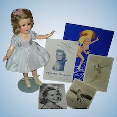 "1930's SONJA HENIE - MADAME ALEXANDER - Composition - 15"" - Original Tagged Costume & Skates - Original Pictures & Programs!!!"