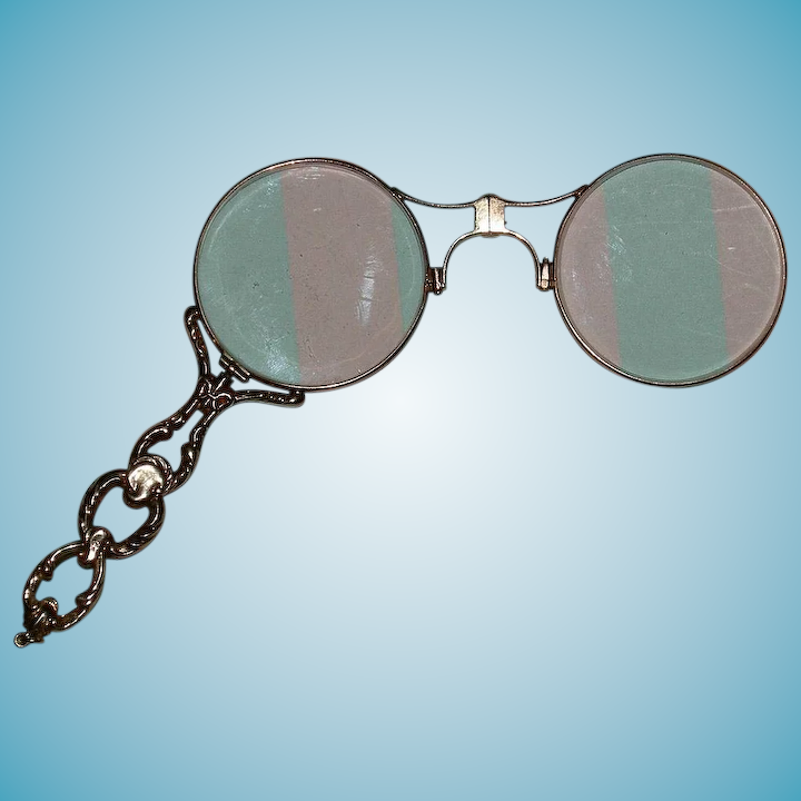 43778a8344b Antique 14K Gold - Lorgnette - Fancy Yellow Solid Gold Glasses w    My  Precious Rose