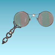 Antique 14K Gold - Lorgnette - Fancy Yellow Solid Gold Glasses w/ Fancy Handle