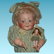 "Hertel, Schwab & Co - Googly - Toddler - Antique German Doll - 16"" - Mold 173.6 -  Just Wonderful!!!!"
