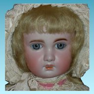 French - 1907 TETE JUMEAU - Blonde Hair & Blue Eyes - Original Body w/ Oval Jumeau Sticker - Pretty Clothes!!