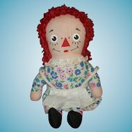 """Tiny 7"""" - RAGGEDY ANN - Knickerbocker - Vintage Doll - For Your Dolly To Hold & To Love!!"""