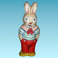 1938 - TIN RABBIT - Lithograph Design - Wind-up - J. Chein & Co. - U.S.A. - 5""