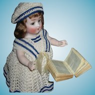 """Cutest!! - BIBLE - Tiny Doll Size!! - 1 3/4"""" x 1 1/2"""" x1/2"""" High - Antique"""