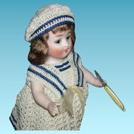 """TINY KNIFE - Miniature!! - 1 1/2"""" Closed - For Your Doll's Protection!!"""