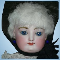 "Francois Gaultier - FG - French Fashion - AMAZING COBALT BLUE EYES!!! - 21"" - Two Dresses & Accessories!! - Skin Wig!!"