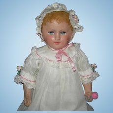 """Tiny 13"""" - MARTHA CHASE - Cloth Baby - Stamped Body - Cute Clothes!!!"""