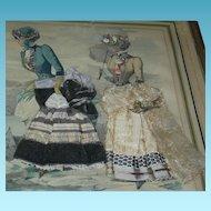 FASHION LADIES - La Gazette - French Newspaper & Magazine - Mirrored Frame & Lace Clothing - Wonderful!!!