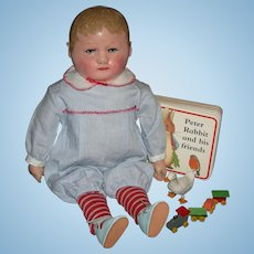 """TINY!! -  MARTHA CHASE BOY - 12"""" - So Cute!! - Original Finish!! - Cute Clothes & Toy Props!!"""