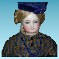 """SIMONNE FRENCH FASHION Doll - 18"""" - Chest Label - Lovely Antique Clothes w/ Extra Dress & Accessories!!"""