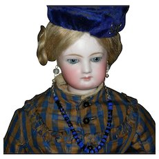 "SIMONNE FRENCH FASHION Doll - 18"" - Chest Label - Lovely Antique Clothes w/ Extra Dress & Accessories!!"
