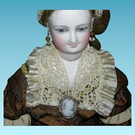 """CAMEO PIN - Doll Sized - Marcasite Sterling Silver - Made in Italy - 1"""""""