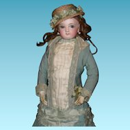 "JUMEAU - RARE TEEN FASHION - 14"" - Original clothes From Paris!!! - Wrap Around eyes!! - Orig Wig & Pate"