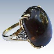 Estate Smokey Topaz Gold Ring