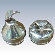 Vintage Pair of Sterling Silver Condiment Fruit Shaped Boxes - Colombia