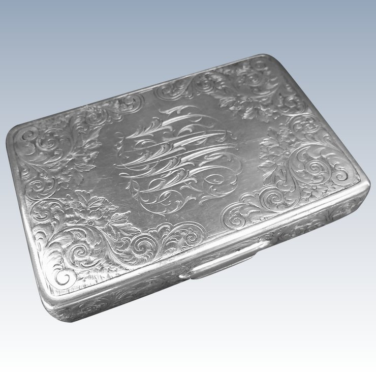 Antique sterling silver tiffany co business card holder ccs antique sterling silver tiffany co business card holder reheart Images